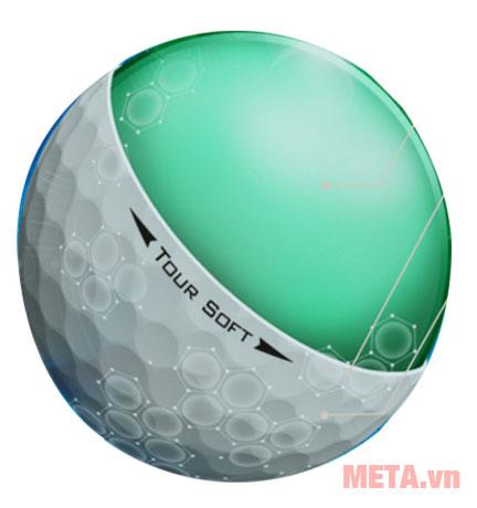 Bóng golf được cấu tạo mềm mại