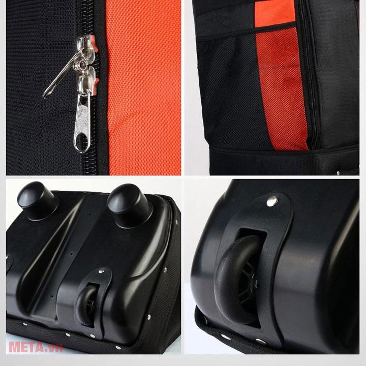 Túi hàng không có bánh xe di chuyển tiện dụng như chiếc vali