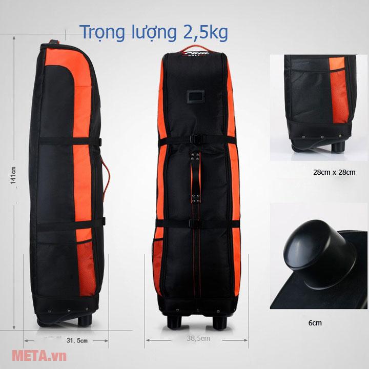 Trọng lượng túi là 2,5kg dễ dàng cầm nắm di chuyển