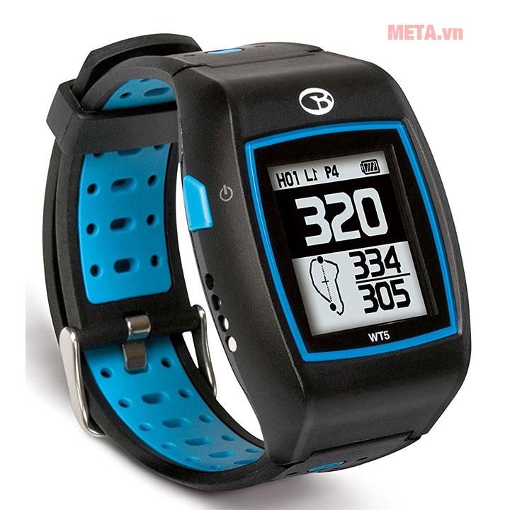 Đồng hồ golf đen kết hợp xanh lạ mắt