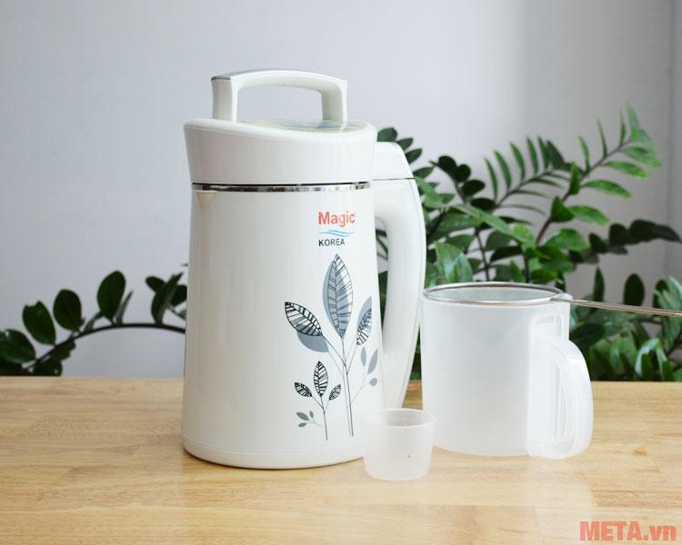 Trọn bộ sản phẩm máy làm sữa đậu nành Magic Korea A-68