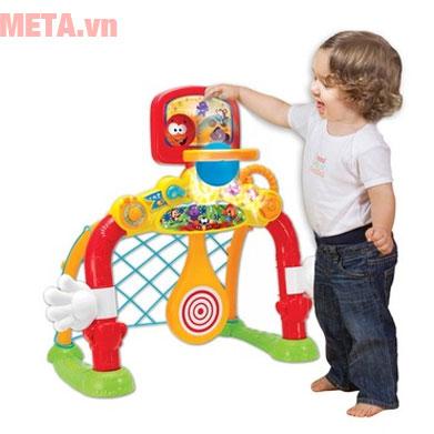 Cột lưới ném/thả bóng giúp bé thỏa sức vui chơi
