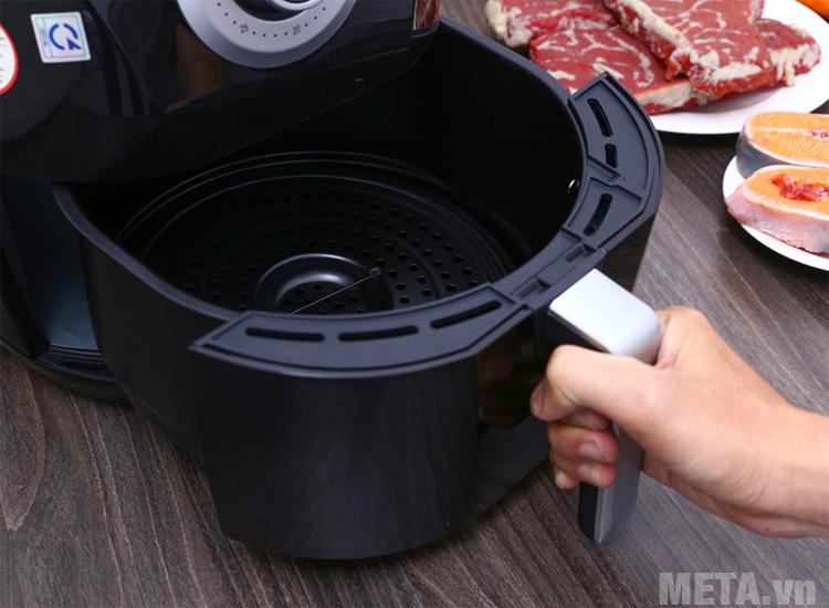 Công nghệ nướng Rapid air tạo ra luồng nhiệt ổn định trong quá trình nấu