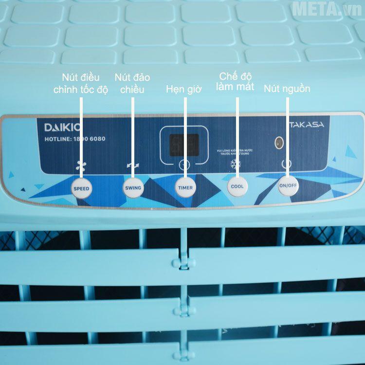 Bảng điều khiển cơ được thiết kế trên thân máy