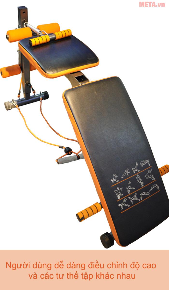Ghế tập bụng đa năng MOFIT EN100 dễ dàng điểu chỉnh các tư thế luyện tập