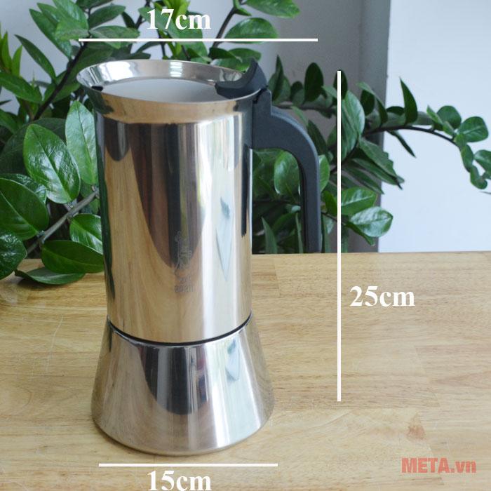 Kích thước của ấm pha cà phê
