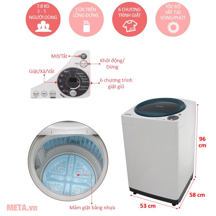Máy giặt 7.8kg