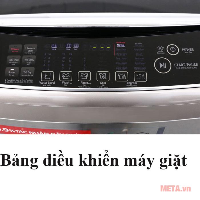 Máy giặt LG có bảng điều khiển tiện lợi