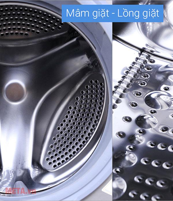 Máy giặt có mâm giặt và lồng giặt cao cấp