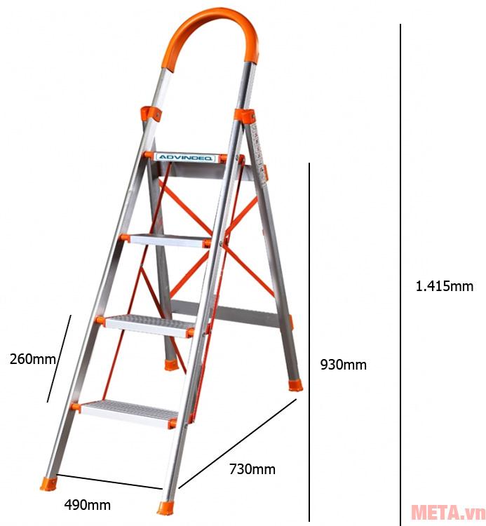 Kích thước thang ghế