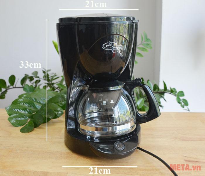 Kích thước máy pha cà phê