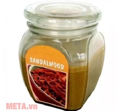 Hũ nến thơm hương gỗ đàn hương