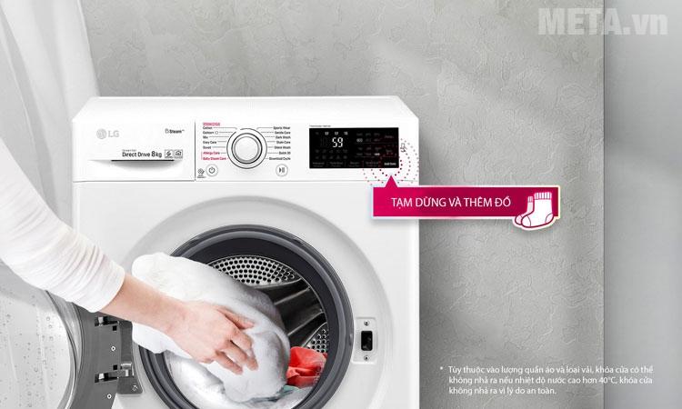 Chức năng thêm đồ giặt tiện ích
