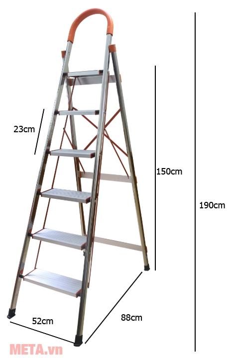 Thang ghế 6 bậc