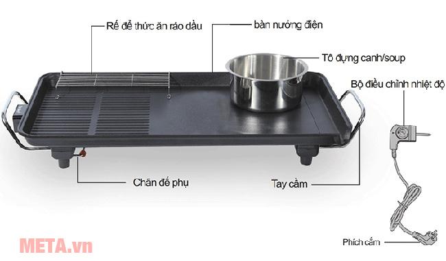 Cấu tạo bếp nướng điện