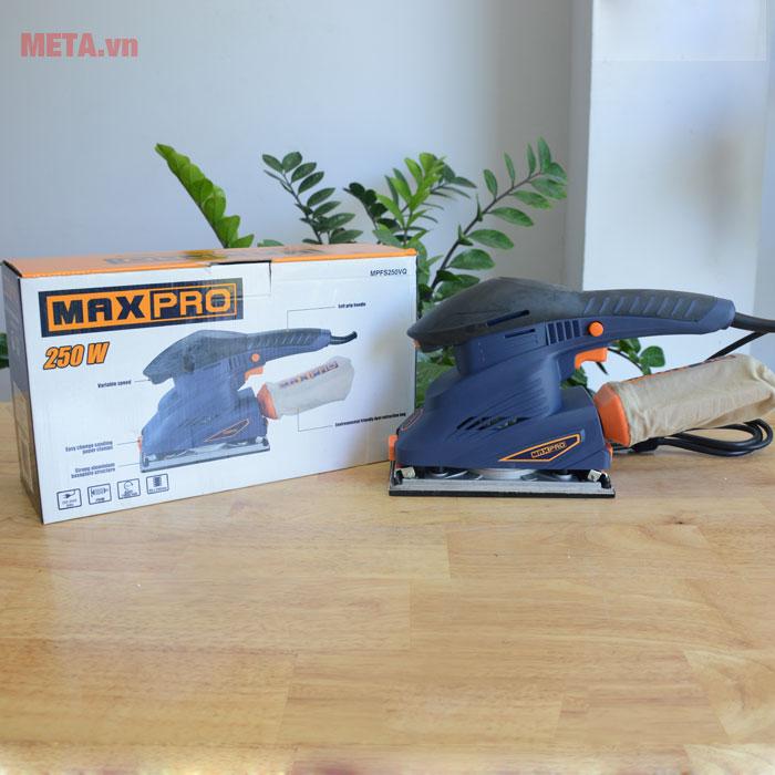 Máy chà nhám chữ nhật Maxpro MPFS250VQ có tay cầm mềm