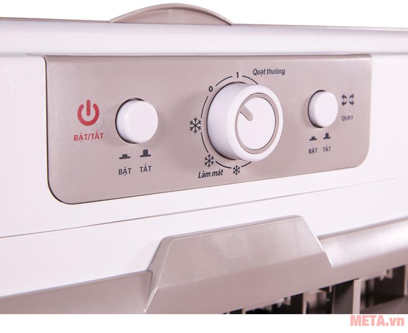 Núm vặn dễ dàng điều chỉnh các chế độ hoạt động