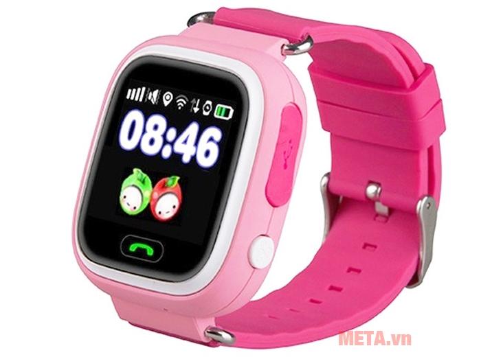Đồng hồ định vị Wonlex GW100 màu hồng