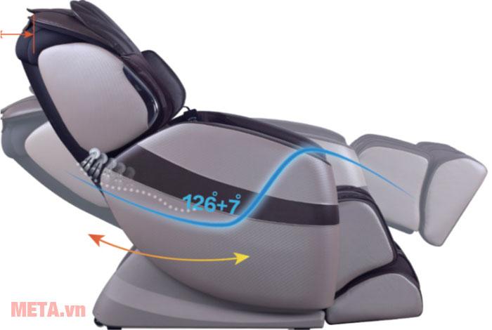 Ghế massage toàn thân với tính năng massage không trọng lực