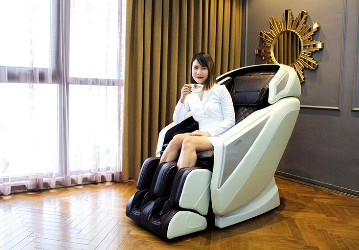 Ghế massage với nhiều tính năng hiện đại