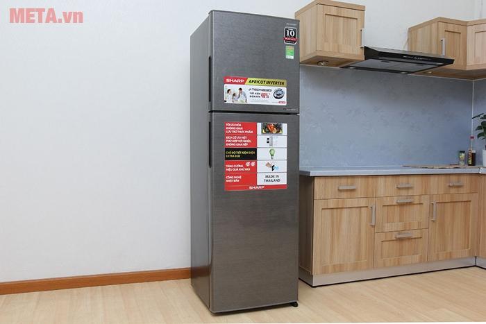 Tủ lạnh Sharp J-TECH INVERTER có 36 mức độ làm lạnh giúp vận hành êm ái