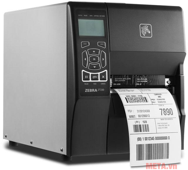 Hình ảnh sử dụng máy in tem mã vạch Zebra ZT230
