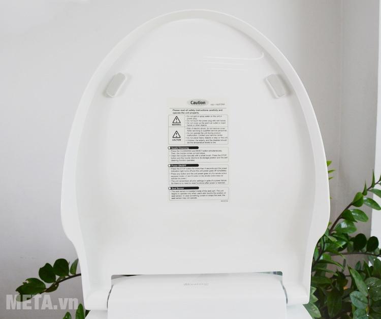 Nắp đậy của thiết bị vệ sinh thông minh
