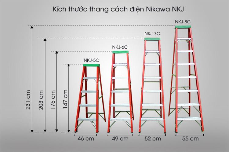 Nikawa NKJ được thiết kế với nhiều chiều cao sử dụng khác nhau