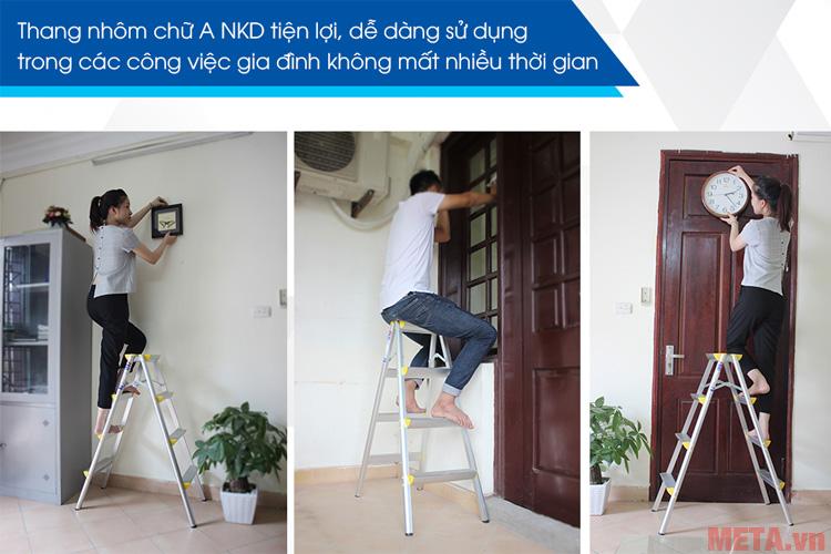 Bạn có thể sử dụng thang với nhiều mục đích khác nhau