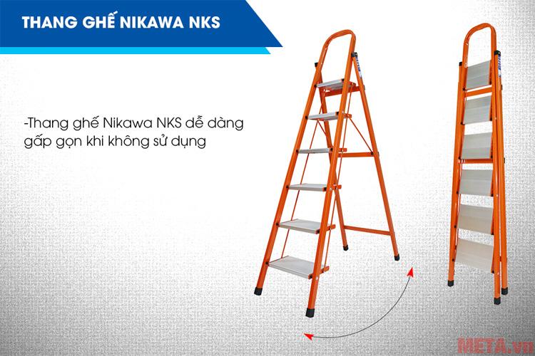 Thang ghế 6 bậc Nikawa NKS06 tiện lợi sử dụng