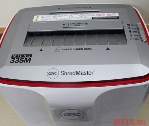Máy hủy giấy GBC ShredMaster 33SM an toàn và dễ dàng sử dụng