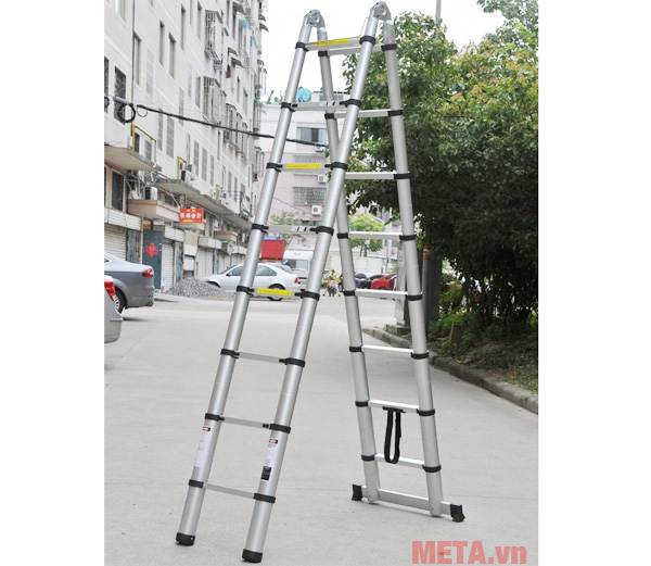 Với chiếc thang thông mình này bạn có thể điều chỉnh độ cao phù hợp với nhu cầu sử dụng