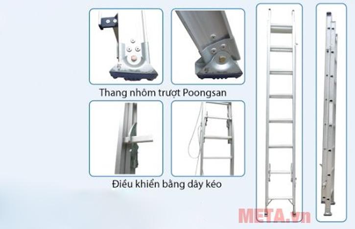 Các chi tiết của thang được thiết kế an toàn dễ dàng sử dụng