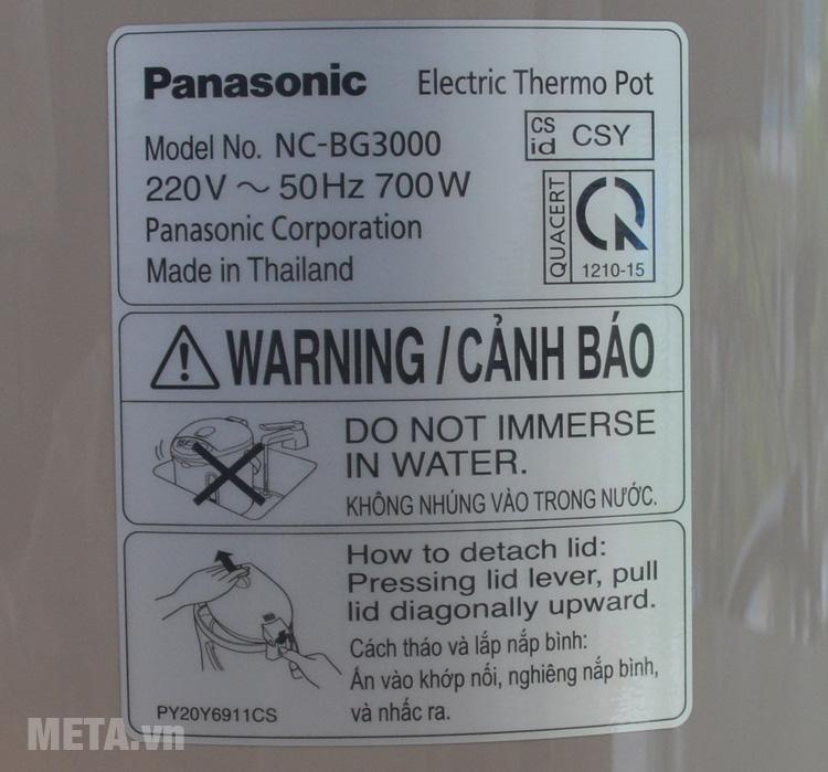 Bình thủy điện dùng điện áp 220V