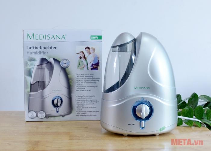 Hình ảnh bộ sản phẩm máy tạo độ ẩm Medisana UHW