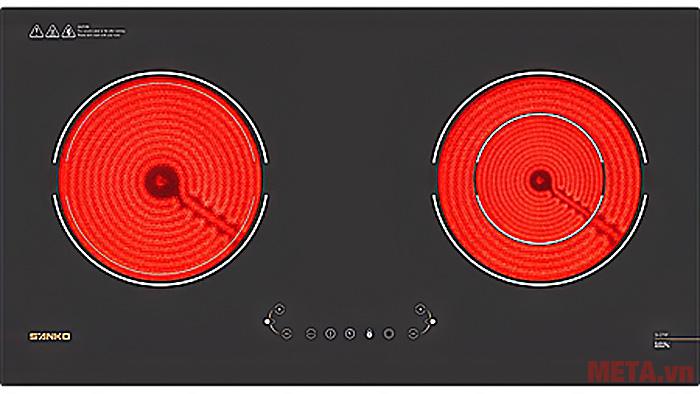 Hình ảnh bếp hồng ngoại đôi Sanko SI-279F