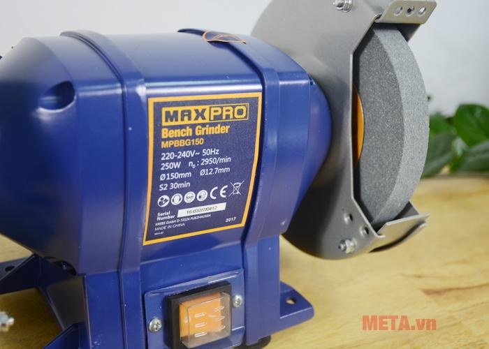 Thông số kỹ thuật máy mài 2 đá Maxpro MPBBG150
