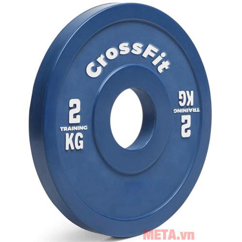 Tạ đĩa Crossfit màu xanh dương