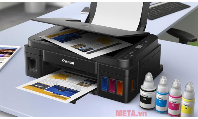 Hình ảnh máy in phun màu đa năng Canon PIXMA G2010