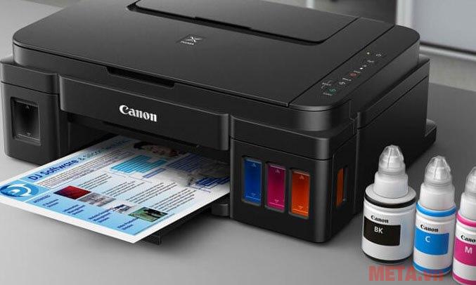 Máy in phun màu đa năng Canon PIXMA G2010 cho chất lượng hình ảnh sắc nét