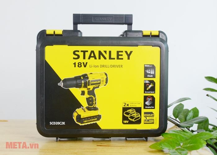 Hộp đựng chuyên dụng đi kèm máy khoan pin Stanley
