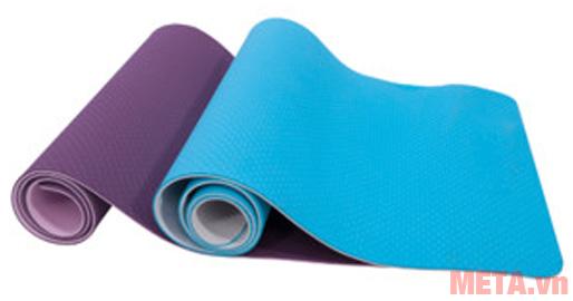 Thảm Yoga TPE LS3237 có hai màu xanh và tím