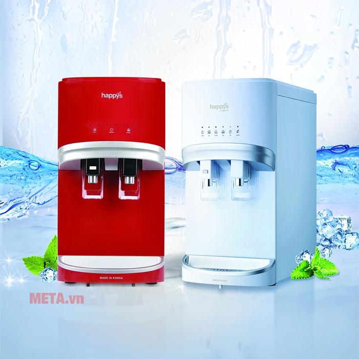 Máy lọc nước nóng lạnh Hàn Quốc 4 lõi 300W Happy Cook HB-681 RED