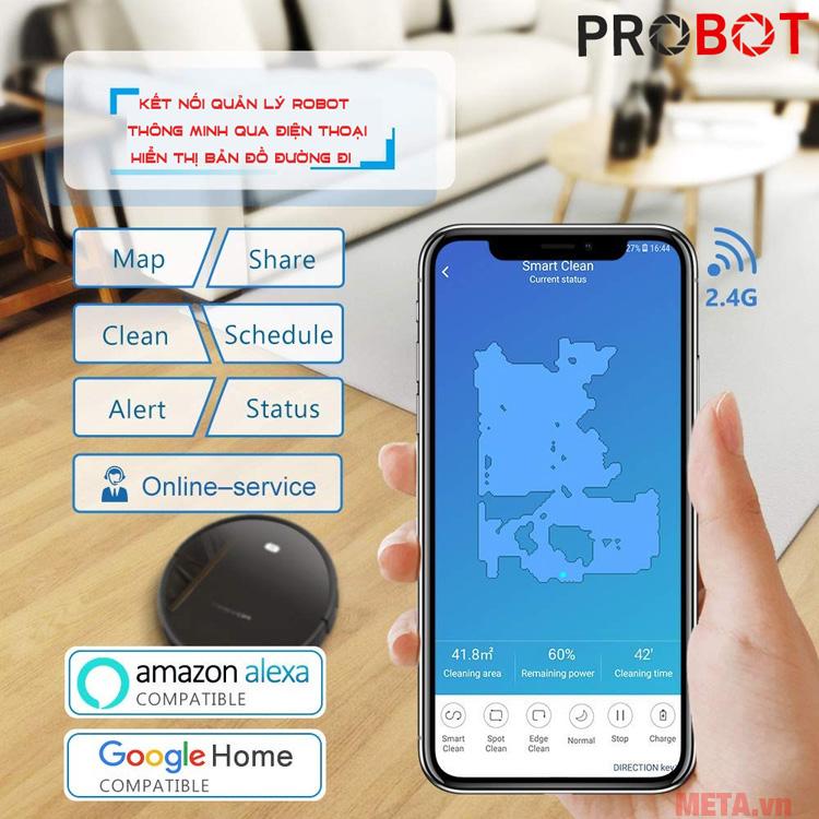 Robot hút bụi thông minh đặt lịch qua điện thoại