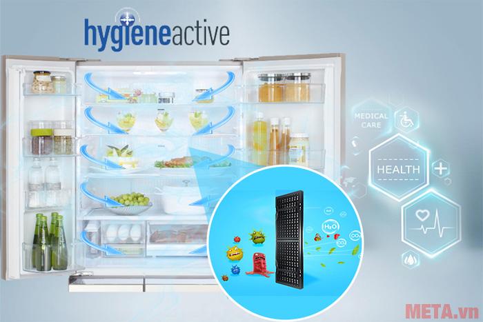 Hệ thống Hygiene Active giúp loại bỏ vi khuẩn hiệu quả
