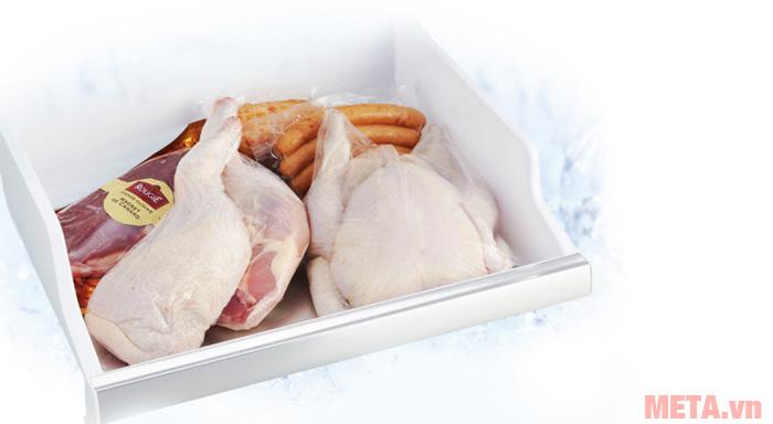 Ngăn đông mềm giúp bạn có thể chế biến thực phẩm ngay sau khi lấy ra khỏi tủ