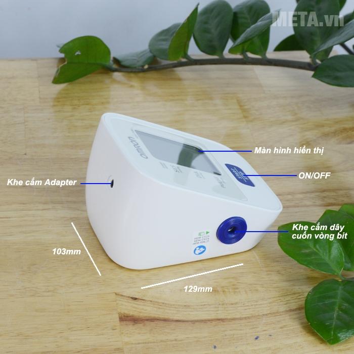 Cấu tạo của máy đo huyết áp bắp tay Omron Hem 7120