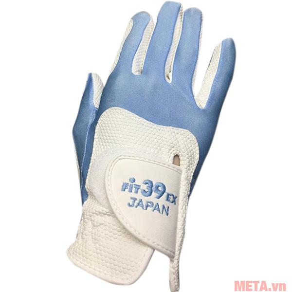 Găng tay Fit39EX Glove Trắng màu xanh lam