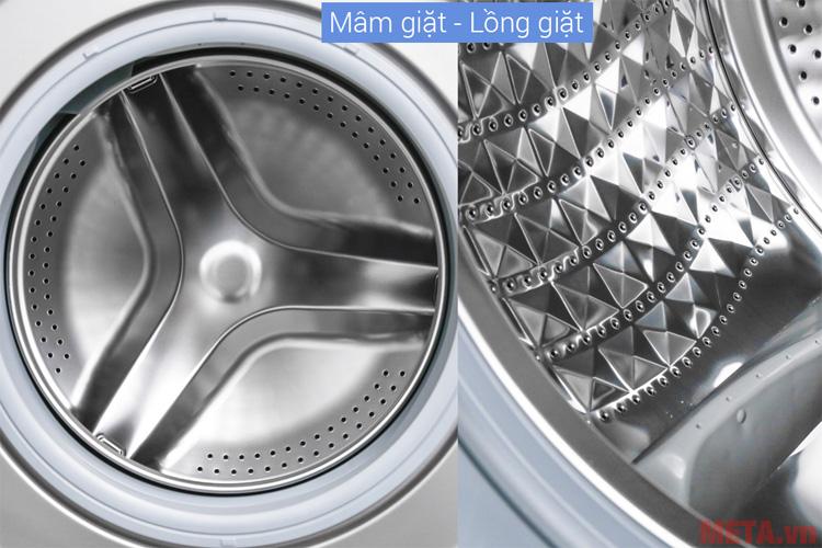 Mâm giặt và lồng giặt được làm từ chất liệu cao cấp
