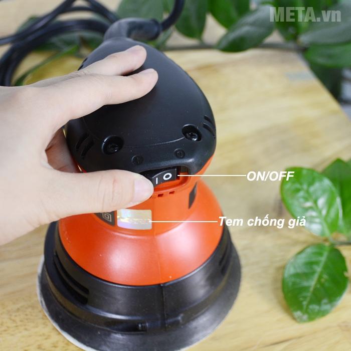 Công tắc ON/OFF của máy chà nhám tròn